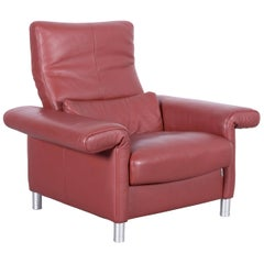 Erpo Designer Leather Armchair Brown One-Seat