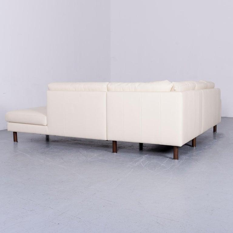 Erpo Designer Sofa Leather Crème Corner-Sofa Couch 6