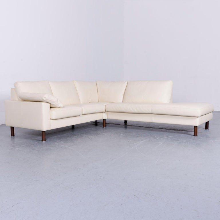 We bring to you an Erpo designer sofa leather crème corner-sofa couch.