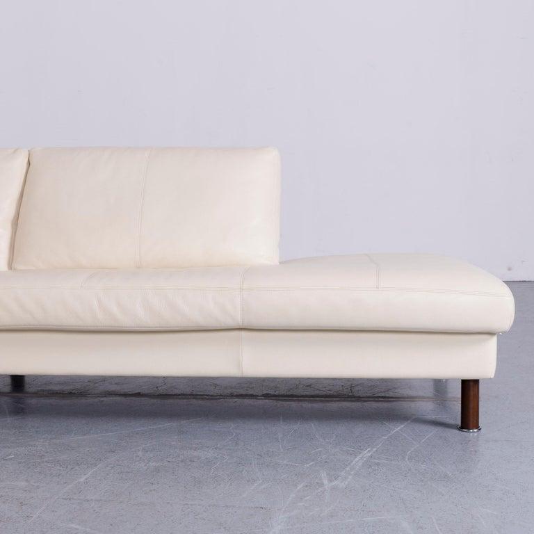 Erpo Designer Sofa Leather Crème Corner-Sofa Couch In Excellent Condition In Cologne, DE