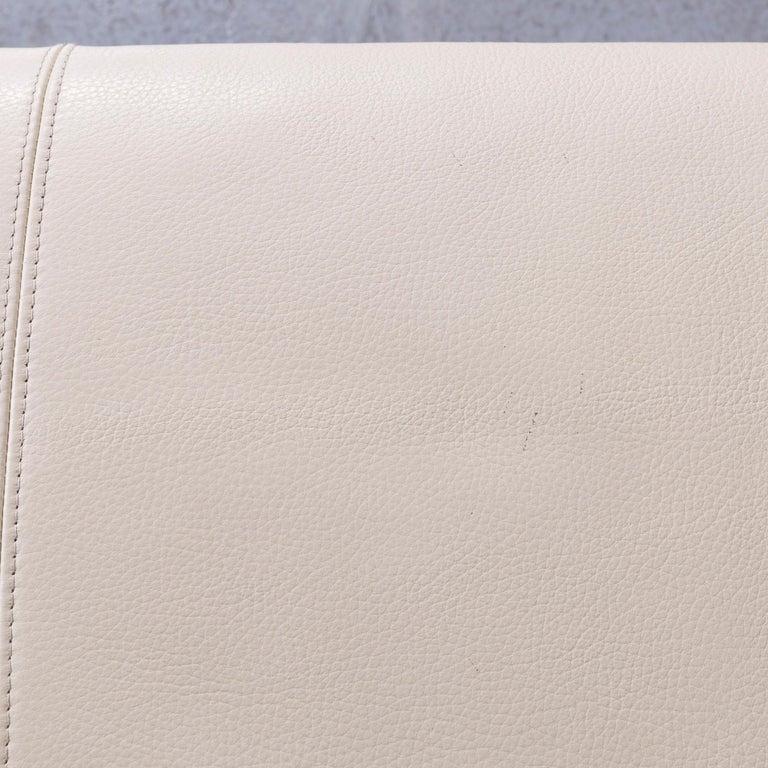 Erpo Designer Sofa Leather Crème Corner-Sofa Couch 2
