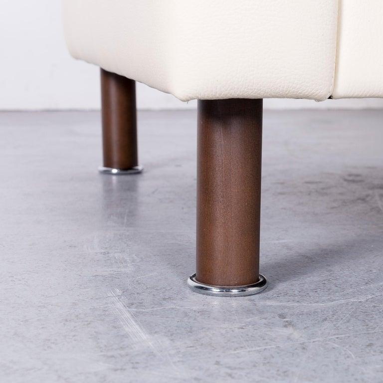 Erpo Designer Sofa Leather Crème Corner-Sofa Couch 3