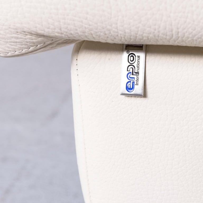 Erpo Designer Sofa Leather Crème Corner-Sofa Couch 4