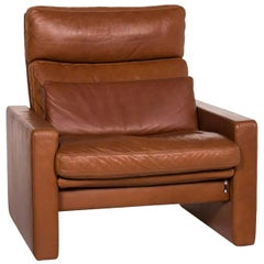 Erpo Leather Armchair Cognac Brown Relax Function Function