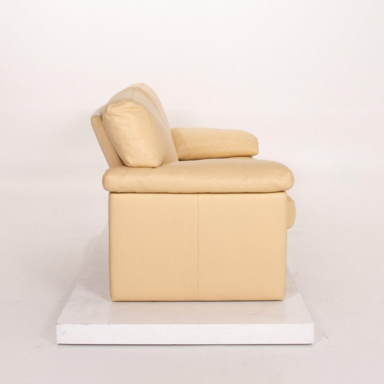 Erpo Leather Sofa Beige Two-Seat Couch 4