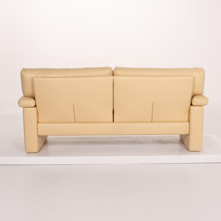 Erpo Leather Sofa Beige Two-Seat Couch 5