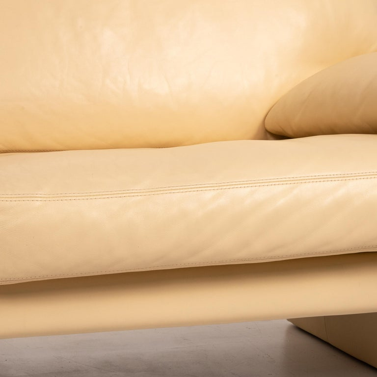 German Erpo Leather Sofa Beige Two-Seat Couch