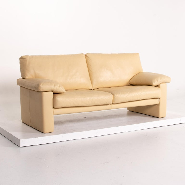 Erpo Leather Sofa Beige Two-Seat Couch 2