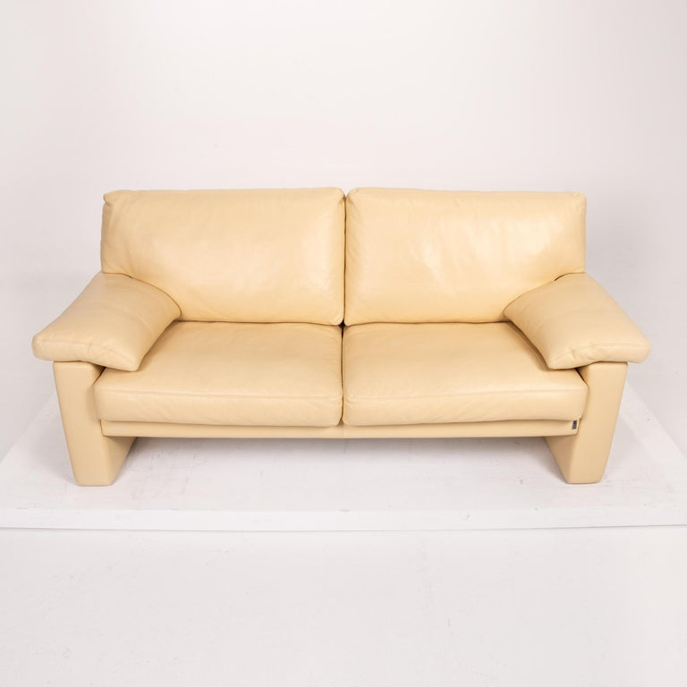 Erpo Leather Sofa Beige Two-Seat Couch 3