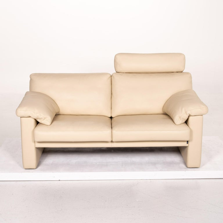 Erpo Leather Sofa Cream Two-Seat Function Couch 3