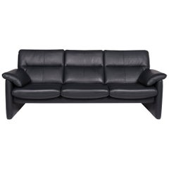 Erpo Leather Sofa Green Dark Green Three-Seat Relax Function Function Couch