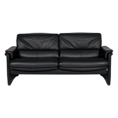 Erpo Leather Sofa Green Dark Green Two-Seat Function Couch
