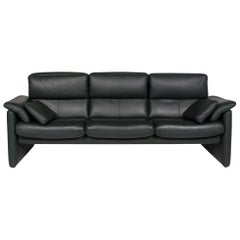 Erpo Leather Sofa Green Three-Seat Function Relax Function Couch