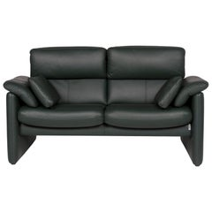 Erpo Leather Sofa Green Two-Seat Function Relax Function Couch