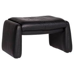 Erpo Lugano Leather Stool Black Stool