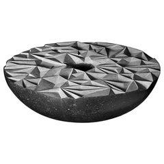 """Erratic Geometry"" Grey Limestone Sculpture by Irish Artist Helen O'connell"