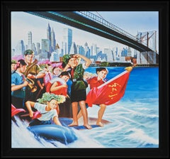 """Chairman Mao's Long Journey"" Brooklyn Bridge New York"