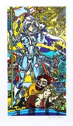 """Forgotten Future"", Pop Art Print by Erró"