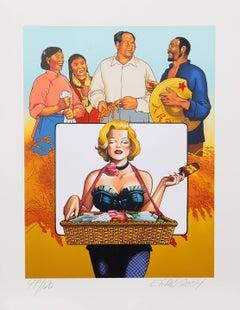 """Ice Cream for Mao"", Pop Art Print by Erró"