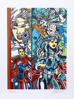 """Silver Saber"", Pop Art Print by Erró"