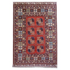 Ersari Rug Large Size Tribal Turkoman Hand Knotted Carpet