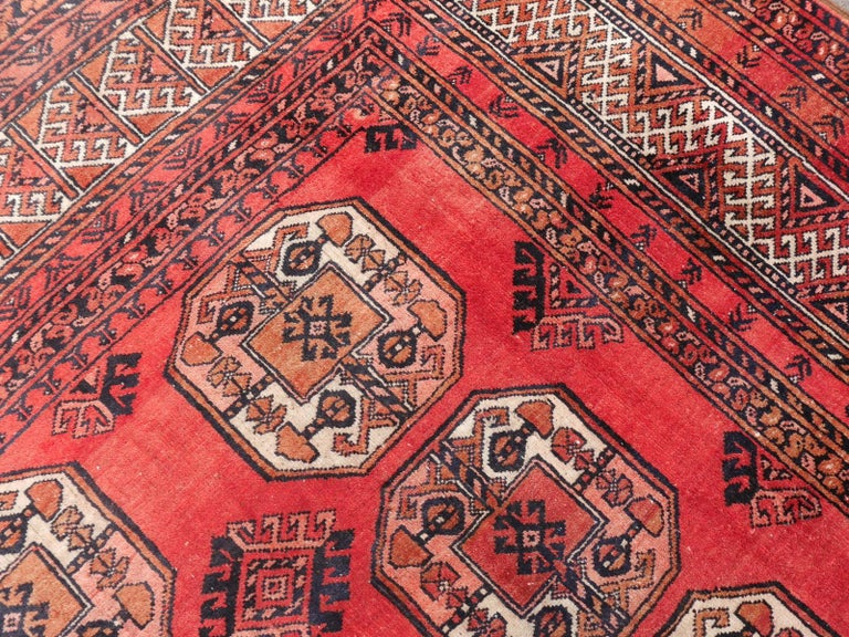 Ersari Rug Large Size Tribal Turkoman Hand Knotted Semi Antique Carpet For Sale 5