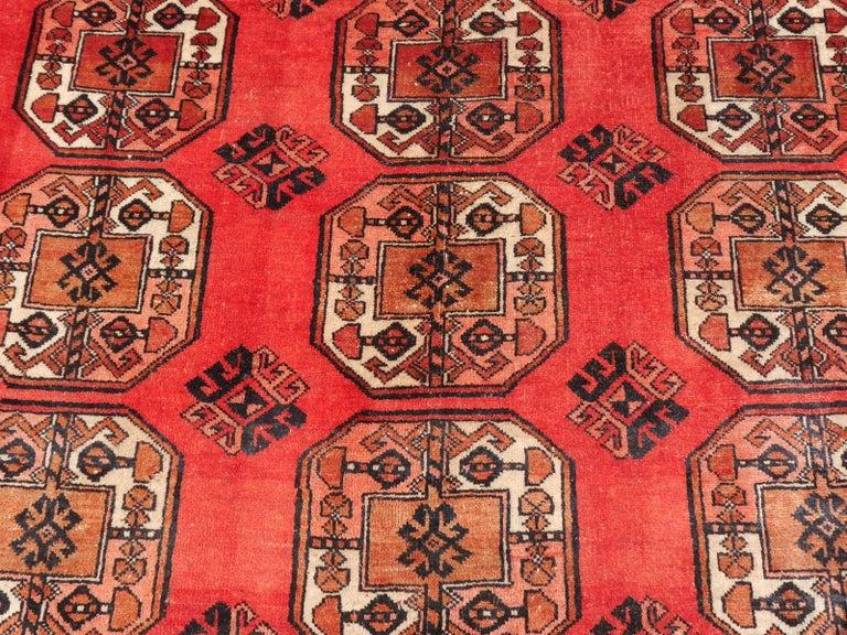 Ersari Rug Large Size Tribal Turkoman Hand Knotted Semi Antique Carpet For Sale 6