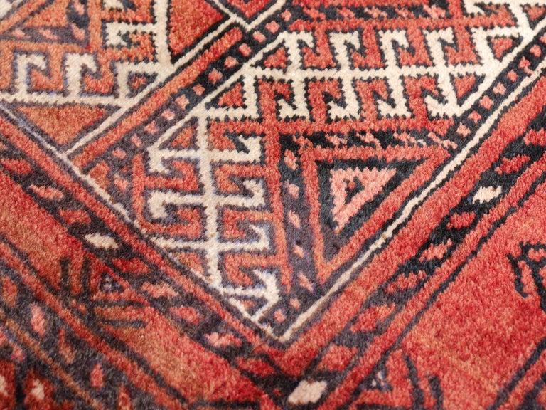 Ersari Rug Large Size Tribal Turkoman Hand Knotted Semi Antique Carpet For Sale 8
