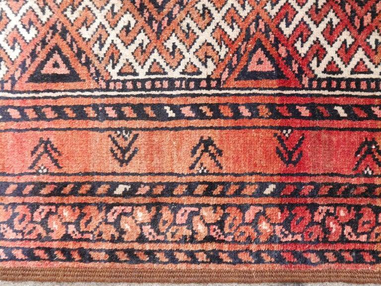 Ersari Rug Large Size Tribal Turkoman Hand Knotted Semi Antique Carpet For Sale 9