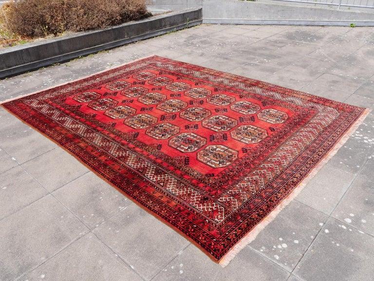 Large sized tribal rug Afghan Ersari Turkoman or Turkmen rug -