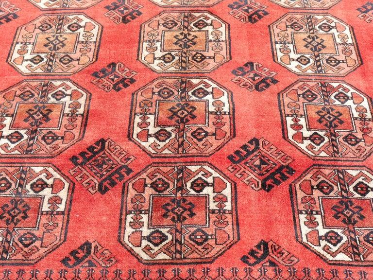 Ersari Rug Large Size Tribal Turkoman Hand Knotted Semi Antique Carpet For Sale 1