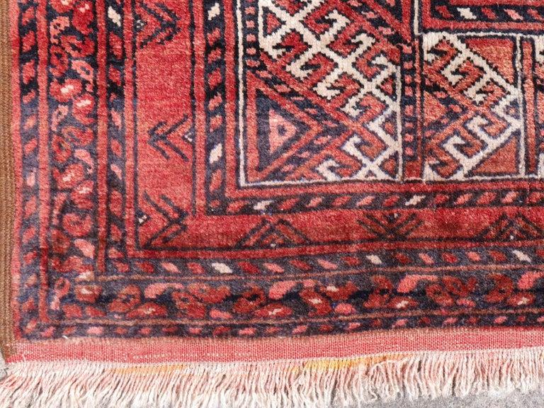 Ersari Rug Large Size Tribal Turkoman Hand Knotted Semi Antique Carpet For Sale 2