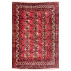Ersari Rug Large Size Tribal Turkoman Hand Knotted Semi Antique Carpet