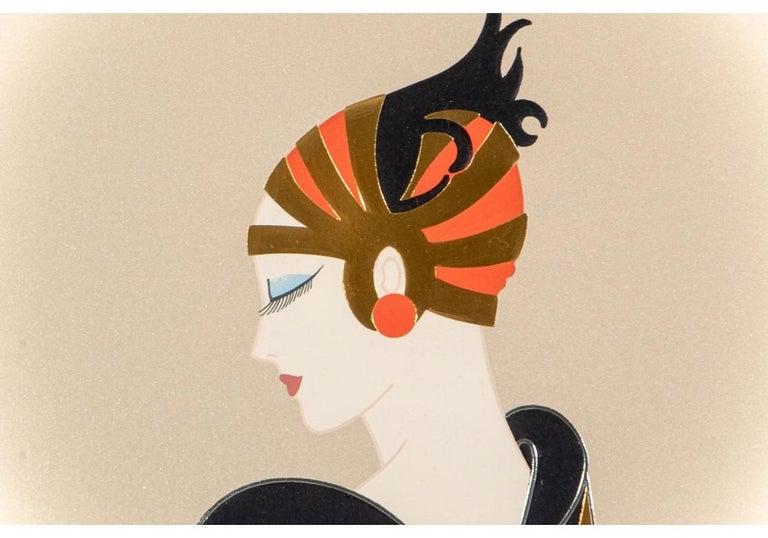 20th Century Erté '1892-1990' Limited Edition Color 1989 Serigraph,