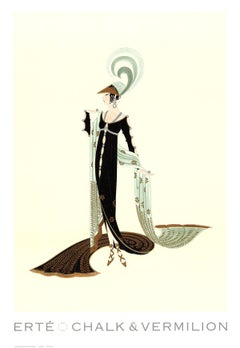 1992 After Erte 'Directoire' Art Deco Multicolor USA Offset Lithograph