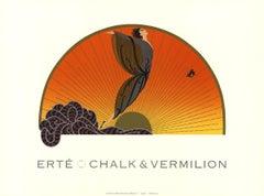 1992 After Erte 'Sunrise' Art Deco Multicolor Offset Lithograph