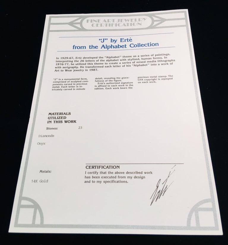 Erte Alphabet Collection Onyx Letter
