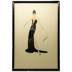 Erté Black Gown