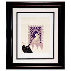 "Erté Pencil Signed and Numbered Lithograph ""La Serenade"""