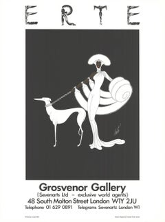1982 After Erte 'Symphony in White (Grosvenor Gallery)' Art Deco