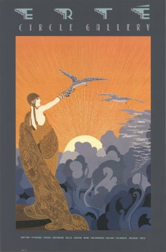 1983 After Erte 'Circle Gallery' USA Offset Lithograph