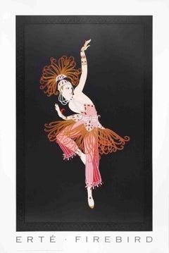 1995 After Erte 'Firebird' Art Deco Multicolor USA Offset Lithograph