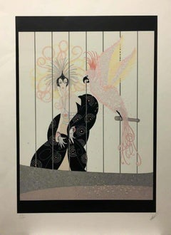 Birdcage-Limited Edition Serigraph. Signed, Titled and Numbered in Pencil.