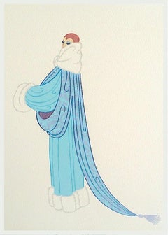 ELEGANCE Signed Lithograph, 1920's Fashion Illustration, Art Deco Portrait