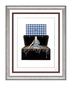 Erte Avarice Original Color Serigraph Hand Signed Art Deco Costume Set Design