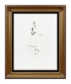 ERTE Color Lithograph SIGNED DECO Artwork Costume Dress Design Renee Tirtoff SBO