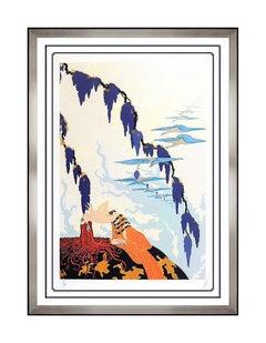 ERTE Color Serigraph Original Vintage Hand Signed Embossed Deco Artwork Painting