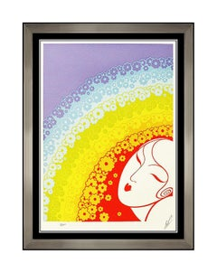 ERTE Color Serigraph Rainbow In Blossom Set Design Art Deco Signed Artwork SBO