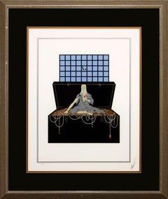 "Erté Framed Limited Edition Hand-Signed Serigraph ""Avarice"" (Seven Deadly Sins)"