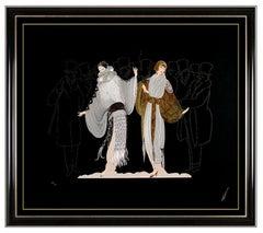 Erte Opening Night Large Embossed Serigraph Hand Signed Costume Design Artwork